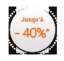 40% de réduction
